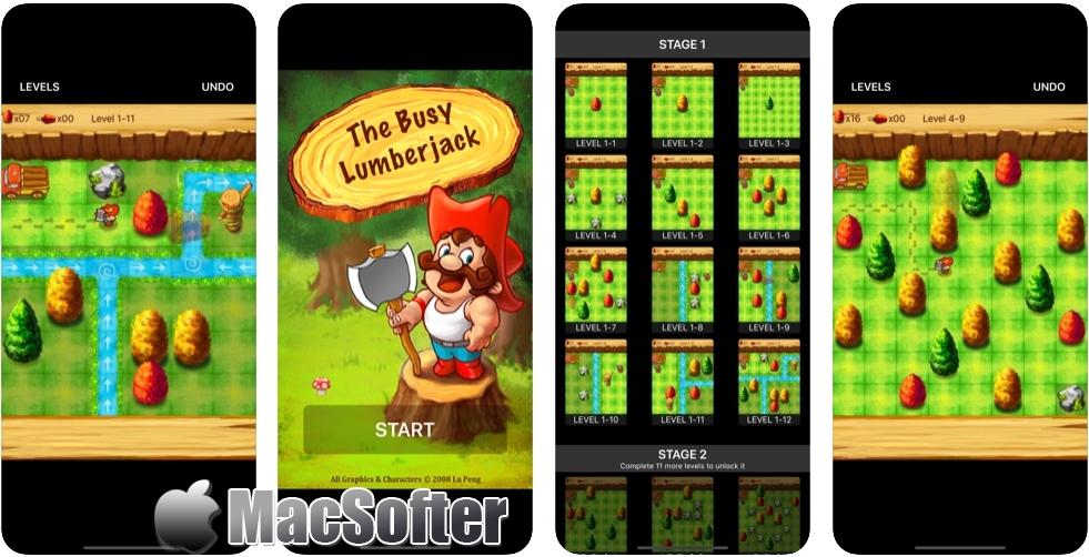[iPhone/iPad限免] 忙碌的伐木工 :伐木工人益智游戏