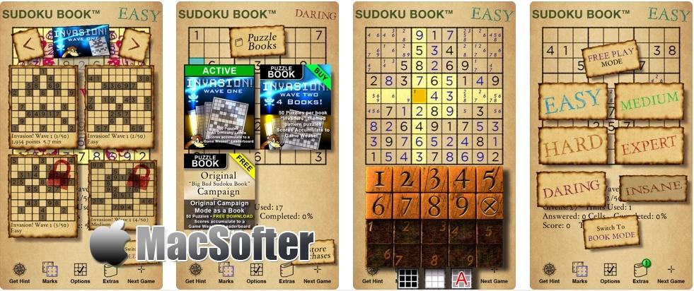 [iPhone/iPad限免] Big Bad Sudoku Book : 考验你的分析与运算能力数独游戏