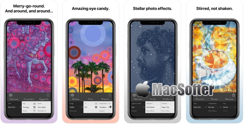 [iPhone/iPad限免] Percolator : 惊艳圆点马赛克效果照片特效工具