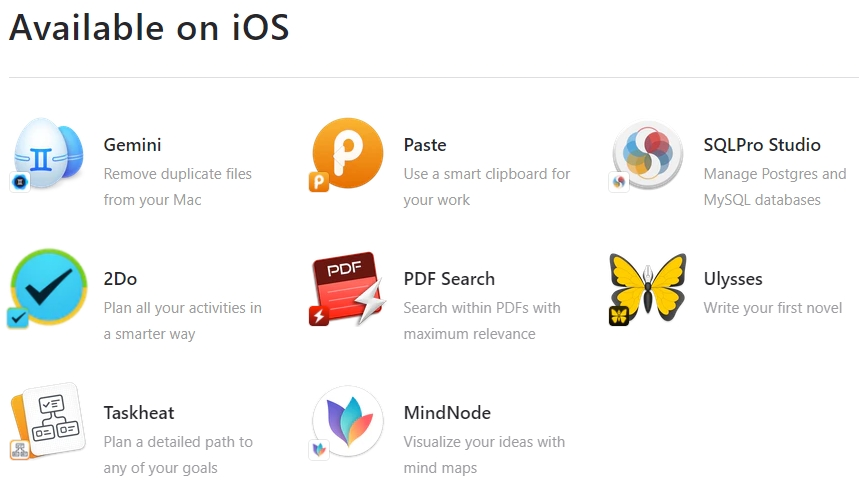 Setapp应用订阅服务从Mac扩展到iOS : 首发8款iOS移动应用