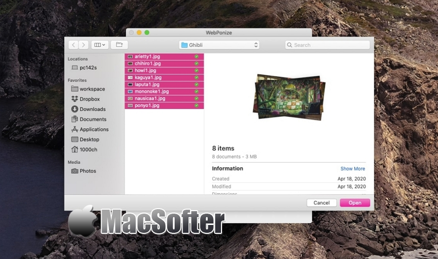 [Mac] WebPonize : WebP图片格式转换器