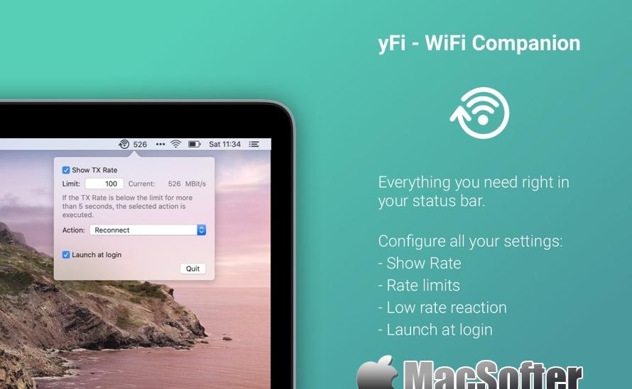 yFi for Mac : 网络自动重连工具