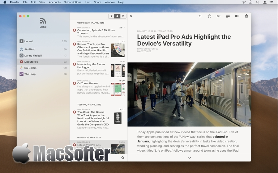 Reeder 4 for Mac :最好用的RSS阅读器