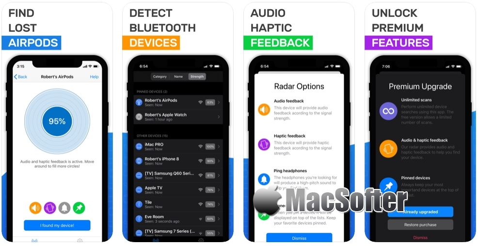 [iPhone/iPad限免] Airpod tracker : Airpods搜索工具