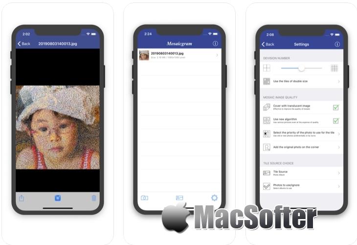 [iPhone/iPad限免] Mosaicgram : 马赛克艺术照制作工具