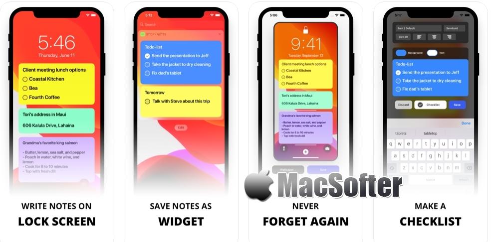 [iPhone/iPad限免] Sticky Notes Widget :待机画面任务清单软件