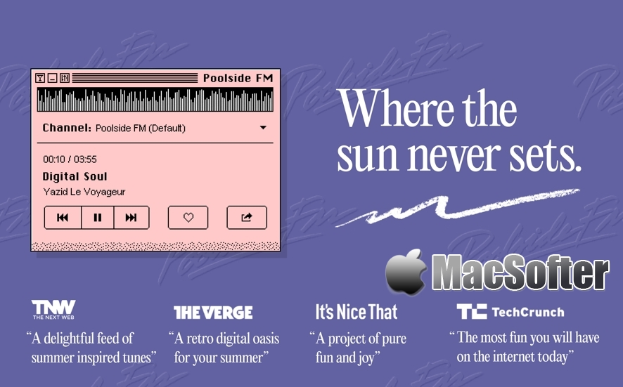 Poolside FM for Mac : 复古风格FM电台软件