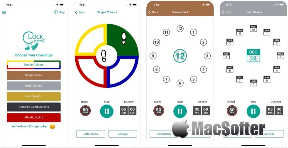 [iPhone/iPad限免] Clock Yourself : 平衡感训练游戏