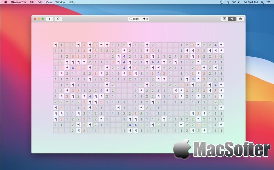 Mineswifter (Minesweeper) for Mac :经典耐玩的扫雷游戏