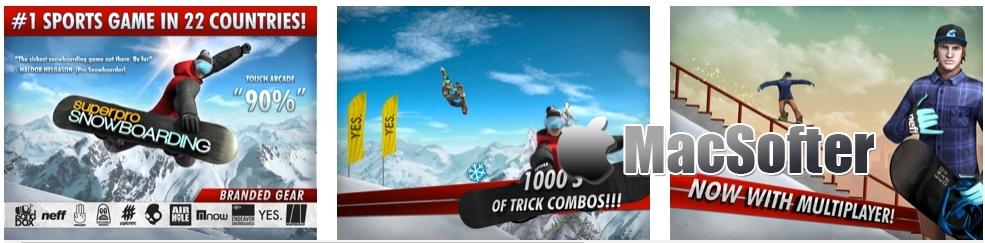 [iPhone/iPad限免] SuperPro Snowboarding : 超级单板滑雪赛游戏