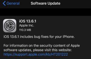 iOS 13.6.1正式发布: 更新了什么?