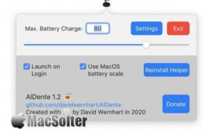 AlDente for Mac :Macbook充电电池保护工具