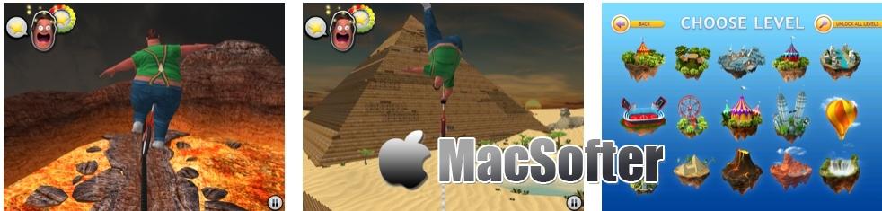 [iPad限免] TightWire Adventures HD :极限钢索平衡挑战游戏