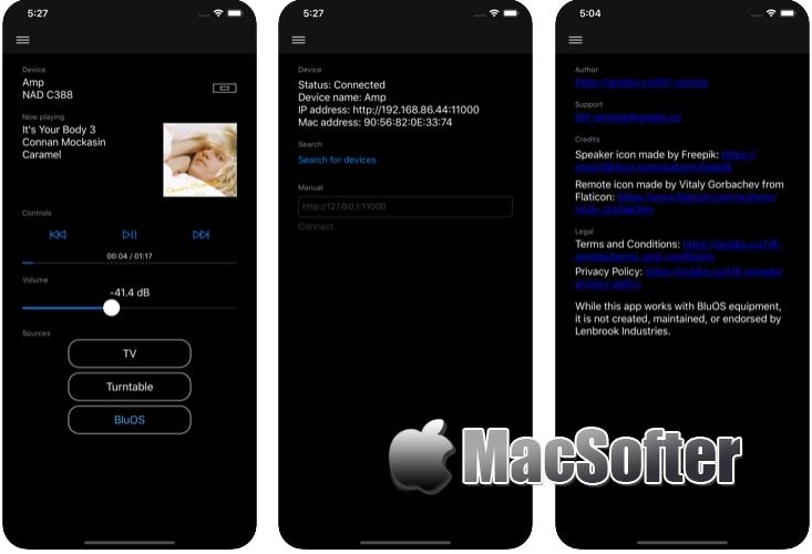 [iPhone/iPad限免] HiFi Remote :HiFi设备远程控制软件