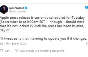 爆料称Apple Watch Series 6将于9月8日发布