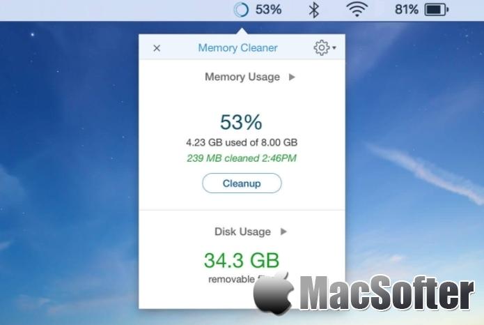 Memory Cleaner for Mac :内存整理系统优化工具