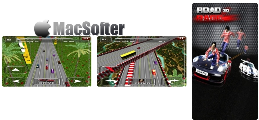 [iPhone/iPad限免] Road Rage :疯狂特技赛车游戏