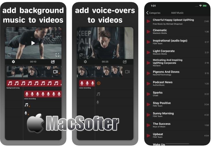 [iPhone/iPad限免] Add Background Music to Vid :视频合并剪辑工具