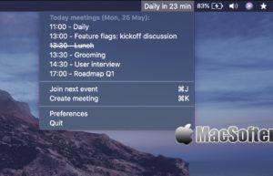 MeetingBar for Mac : 菜单栏的日历会议安排工具