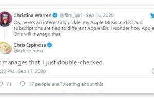 Apple One订阅服务支持拥有多个Apple ID的用户
