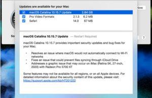 苹果发布macOS 10.15.7 更新 : 修复Wi-Fi连接和显卡问题
