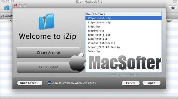 iZip for Mac :免费好用的压缩解压缩工具
