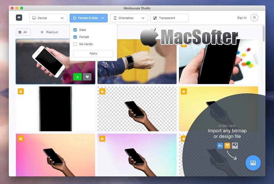 Mockuuups Studio for Mac : 超多模型的带壳原型设计制作工具