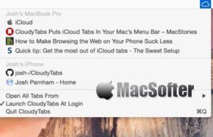 CloudyTabs for Mac : iCloud网页书签同步查看打开工具