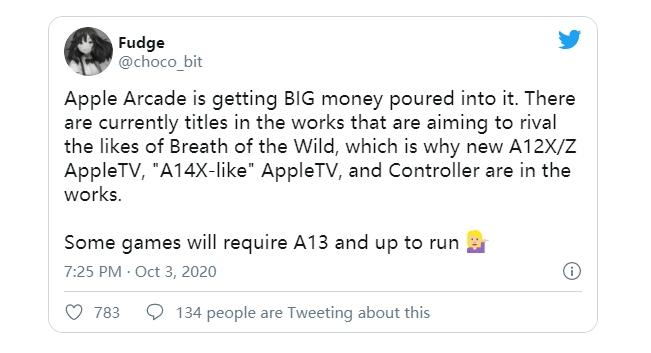 传Apple TV换A14X:要与layStation,XBox,Switch较高下