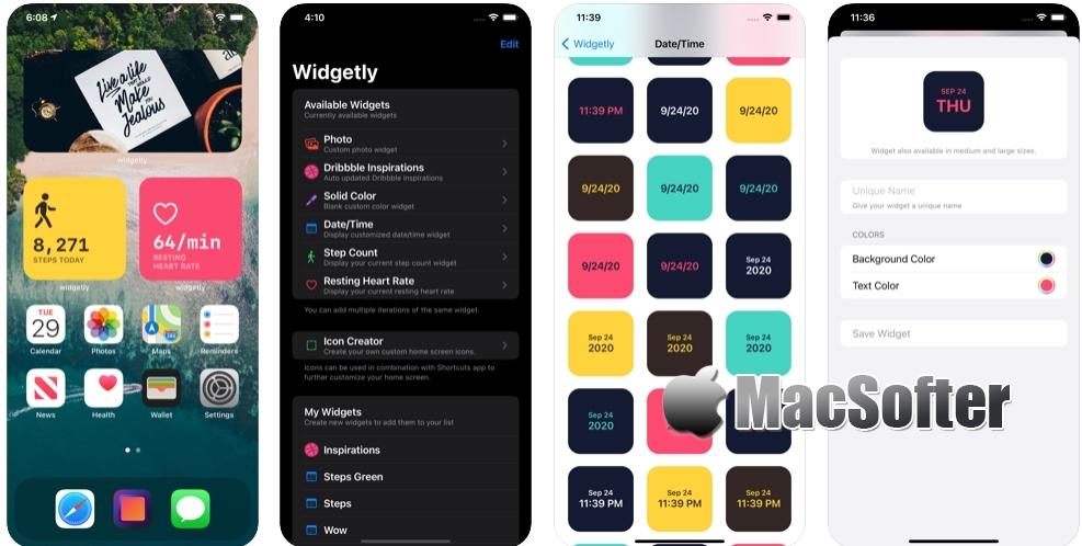 [iPhone/iPad限免] Widgetly :桌面纯色背景小组件工具