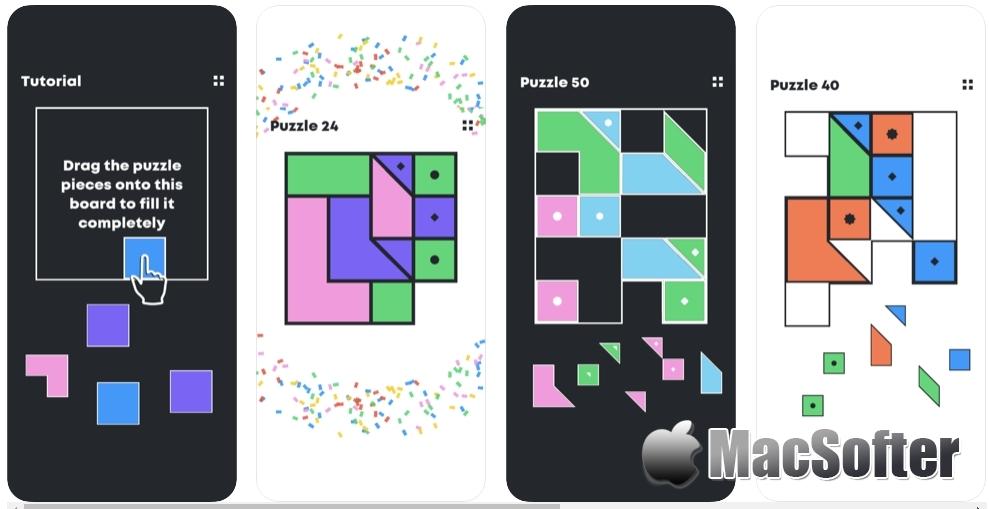 [iPhone/iPad限免] Fill me up :类似七巧板的拼图游戏