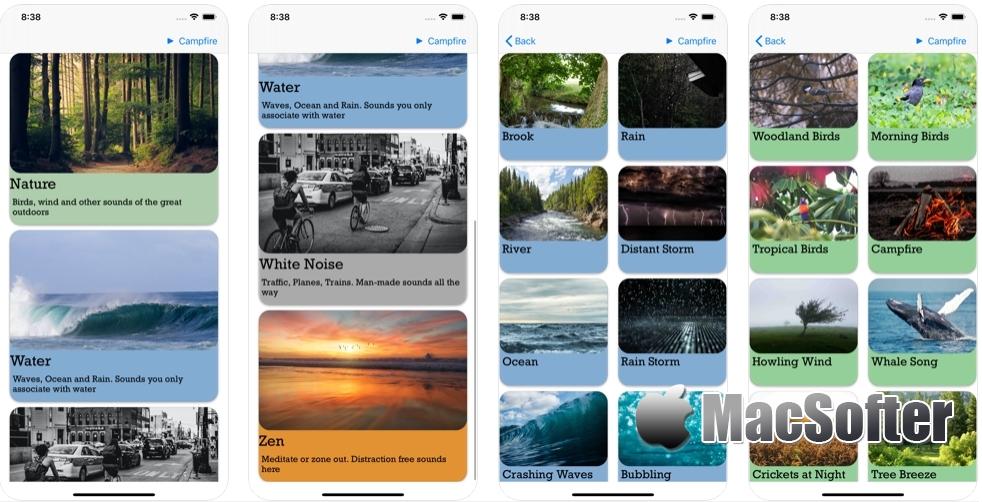 [iPhone/iPad限免] Calming Sounds :白噪音软件