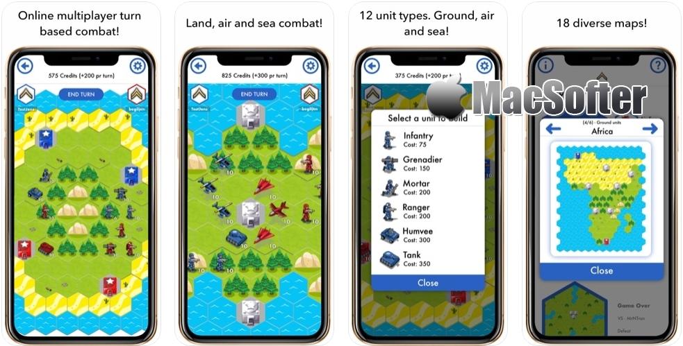 [iPhone/iPad限免] XeeWar :两人回合制策略战争游戏