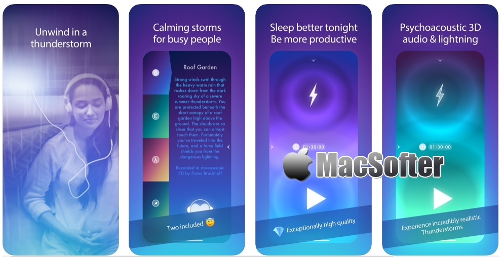 [iPhone/iPad限免] Thunderspace :风雨声白噪音软件