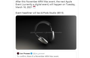 传AirPods Studio延期至2021年3月发布