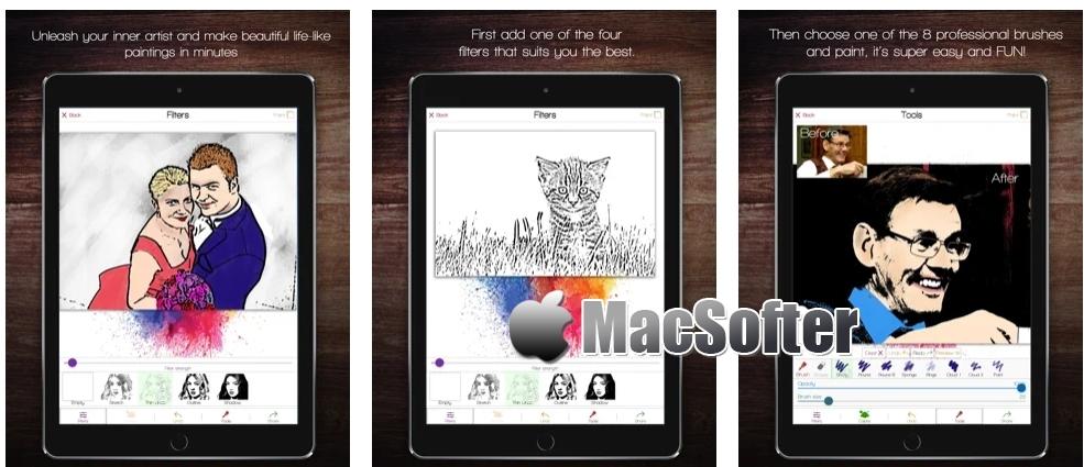 [iPhone/iPad限免] Color Rise :将照片进行着色画处理的滤镜工具