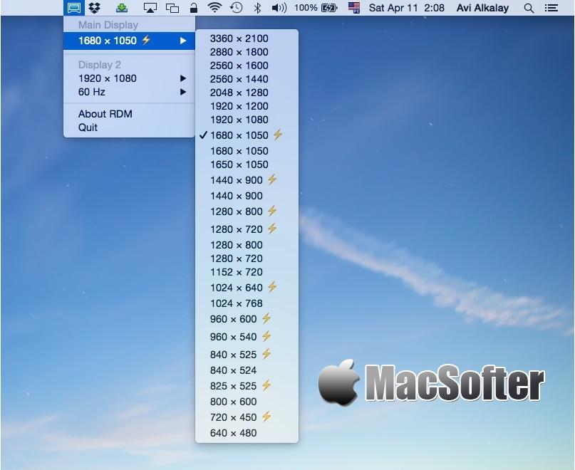 RDM for Mac : 黑苹果分辨率快速调整设置工具