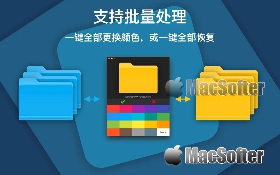 Color Folder 文件夹改色助手 for Mac :文件夹自定义颜色工具