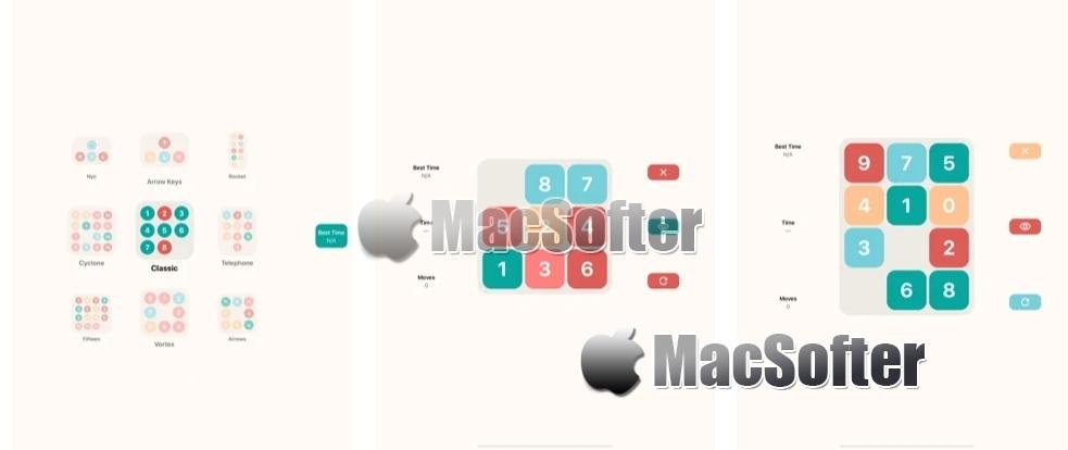 [iPhone/iPad限免] Up Slide Down :色块移动益智游戏