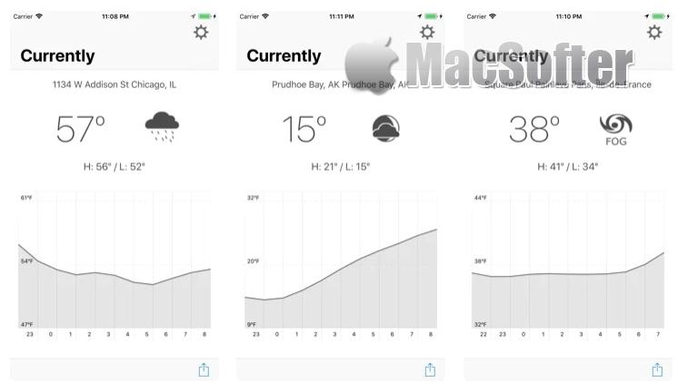 [iPhone限免] Currently :极简风格的天气预报软件