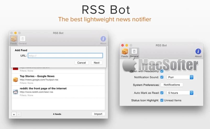 RSS Bot for Mac :RSS新闻阅读器