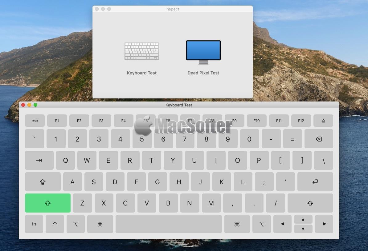 Inspect for Mac :键盘测试检测以及屏幕测试检测工具