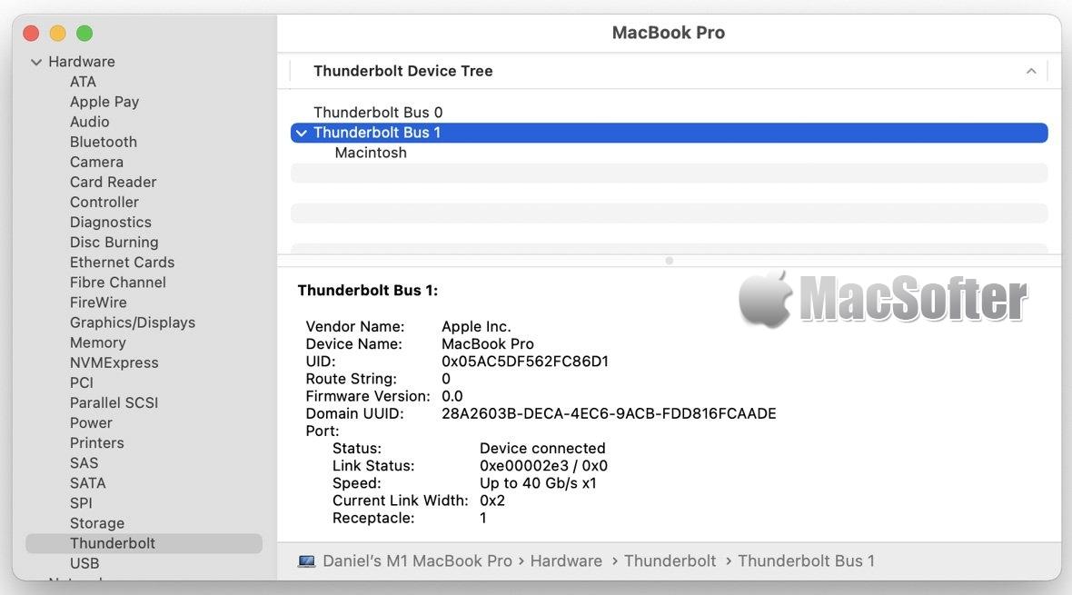 苹果M1版Mac是全球首款支持USB4标准的商用电脑