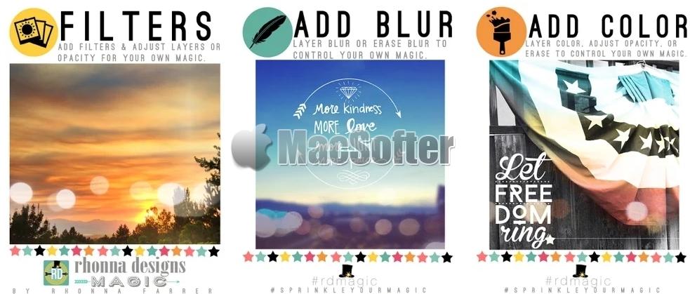 [iPhone/iPad限免] Rhonna Designs Magic : 为照片添加魔法特效的处理工具