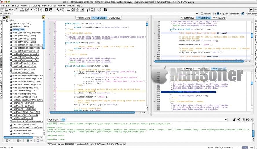 jEdit for Mac :基于Java的文本编辑器
