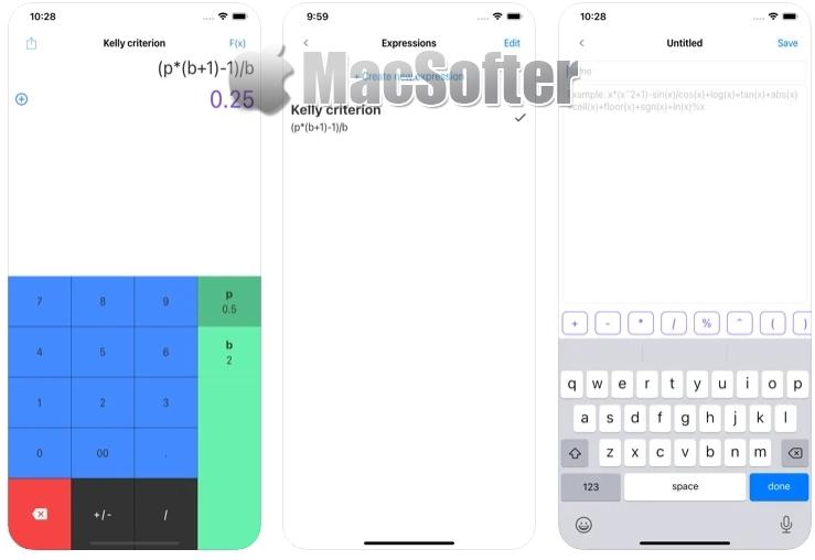 [iPhone限免] Funkalc :支持数学表达式的计算器软件