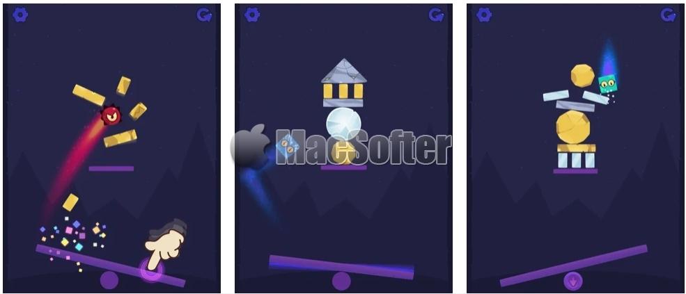 [iPhone/iPad限免] Bouncy Catapult King :基于物理的休闲街机游戏