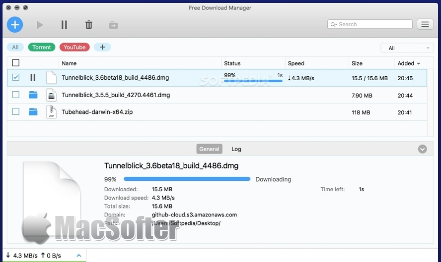 Free Download Manager for Mac : Mac上的全能下载工具