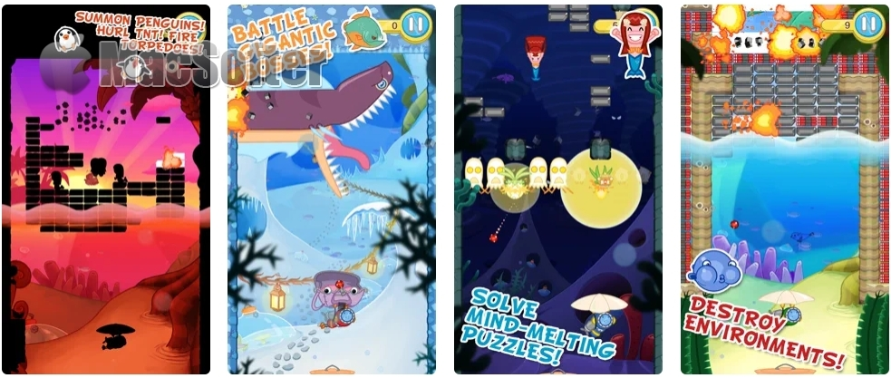 [iPhone/iPad限免] Blowfish Meets Meteor :打砖块益智休闲游戏