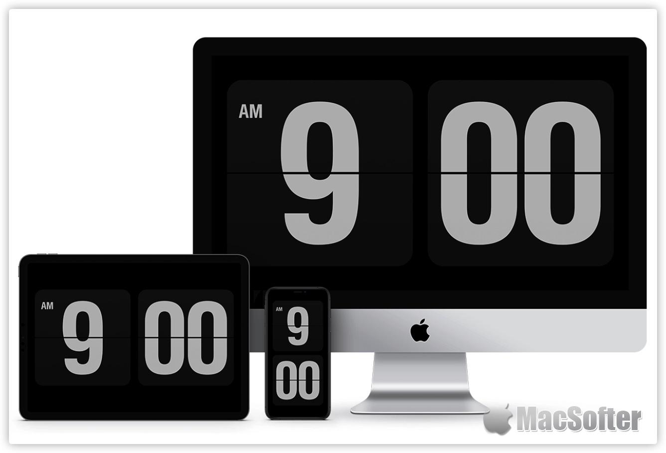 Fliqlo for Mac :极简主义的翻页时钟屏幕保护软件
